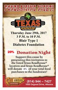Blair Type 1 Diabetes Foundation Invitation