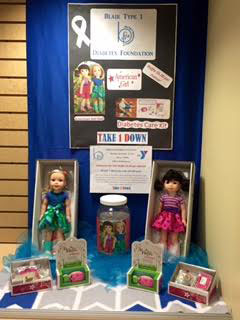 Display of dolls and raffle tickets